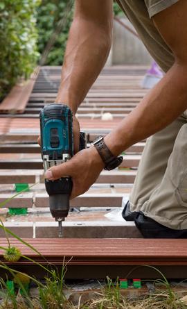 Amazing Construire Une Terrasse En Bois With Pose Terrasse Bois Sur Parpaing