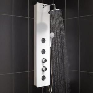 Douche avec colonne d'hydromassage