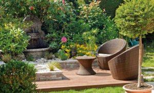 Terrasse de jardin en bois