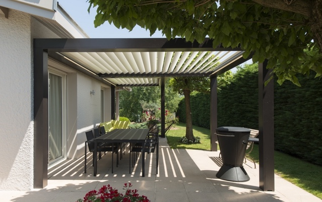 Pergola bioclimatique design quel prix for Prix d une pergola