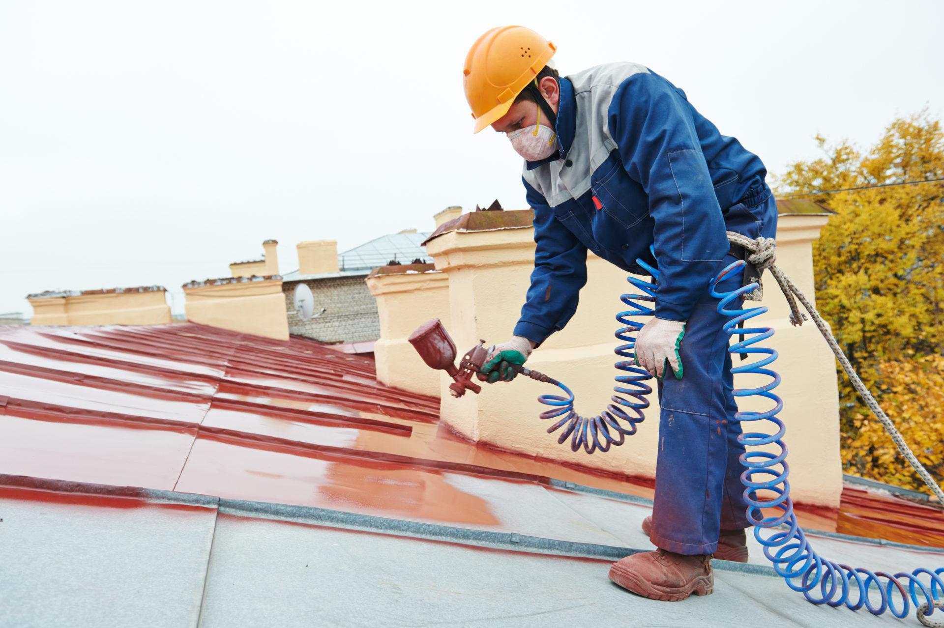 Peinture sur toiture