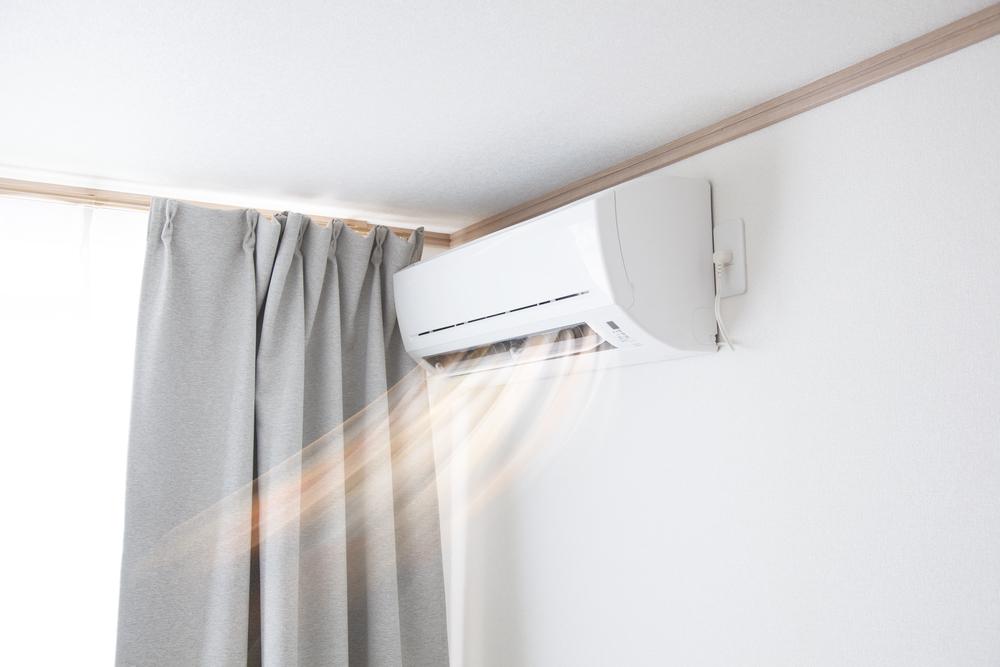 Climatiseur dans la chambre à coucher