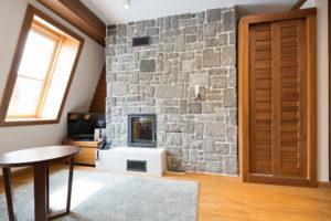 Mur en pierre intérieur - pierre de parement