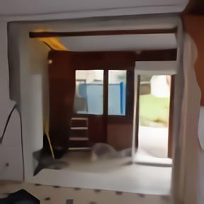 Emplacement mur avant pose porte fenêtre coulissante