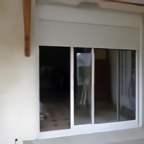Porte fenêtre alu coulissante volet roulant télécommande