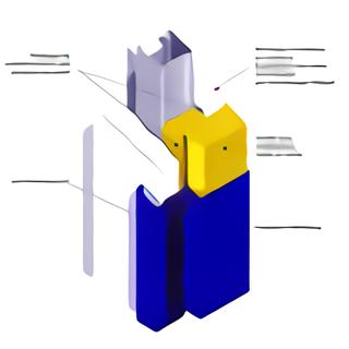 Schéma bloc porte coupe-feu vue éclatée 1
