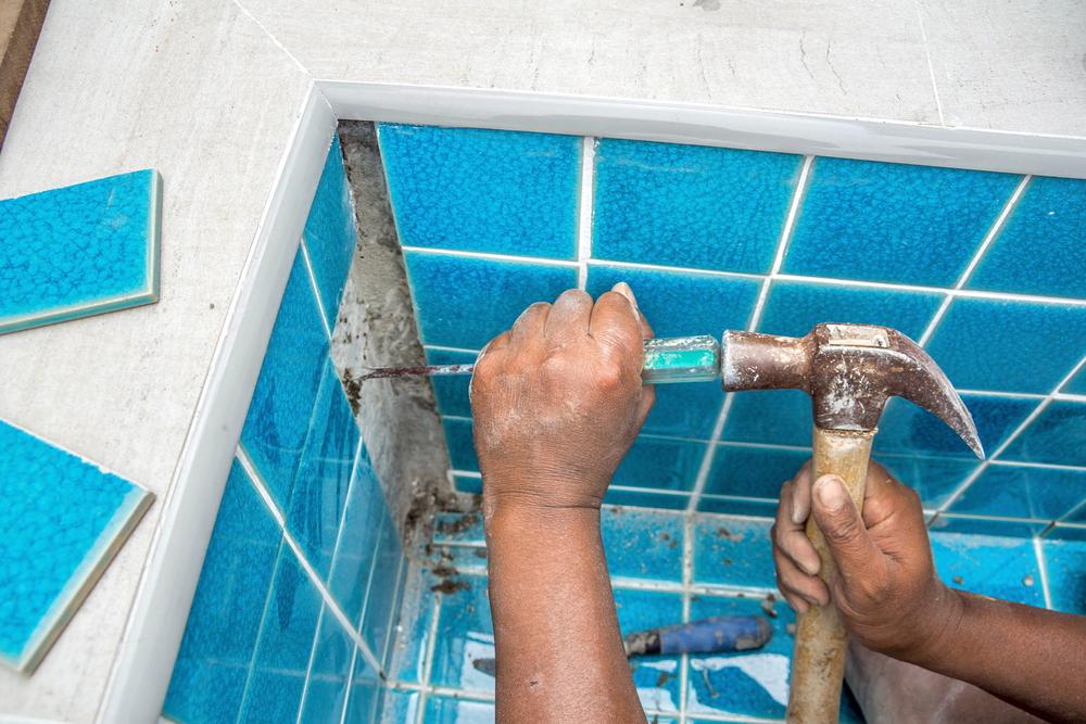 piscine intérieure-carrelage