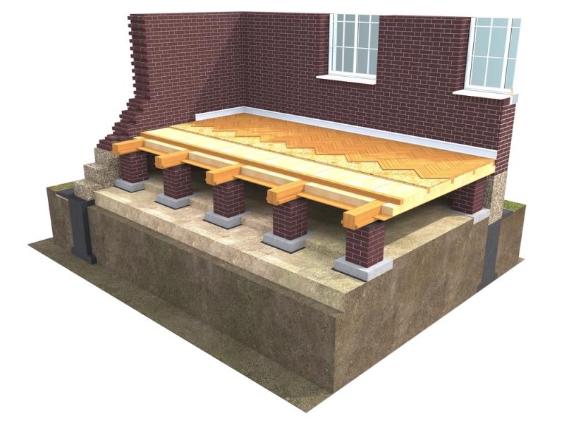 Structure d'un vide sanitaire accessible