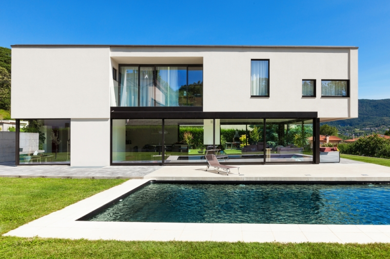 Véranda alu pour maisons contemporaines