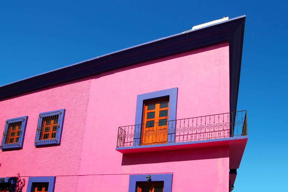 facade maison exterieure rose