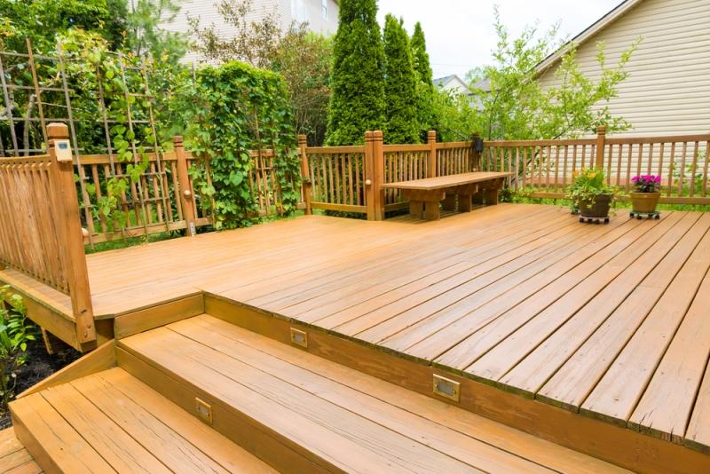 Aménagement d'une terrasse suspendue