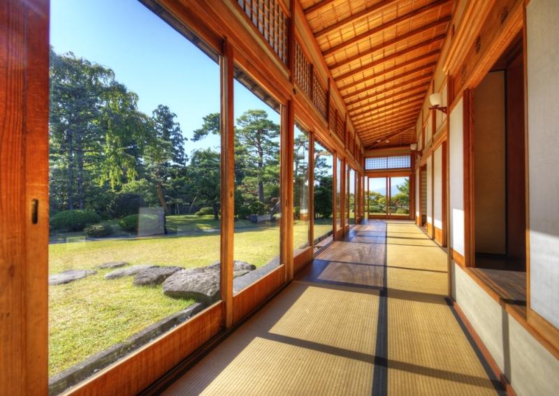 Véranda en bois japonaise sur mesure