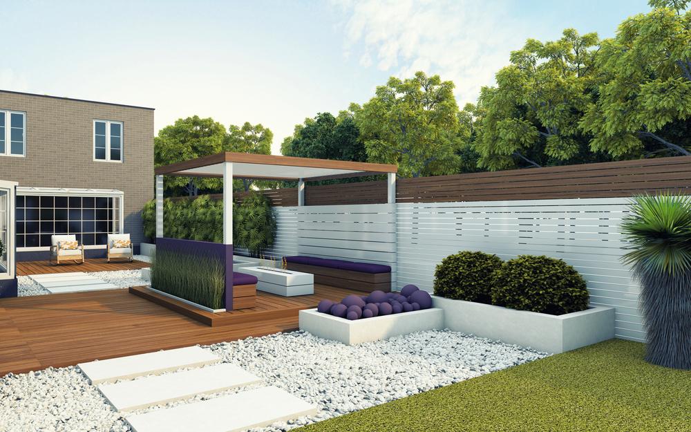jardin contemporain d finition prix d 39 am nagement et photos. Black Bedroom Furniture Sets. Home Design Ideas