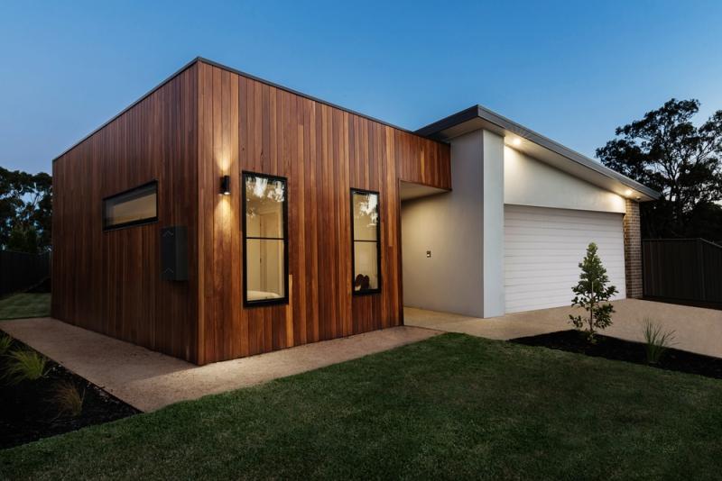 Bardage de façade bois moderne