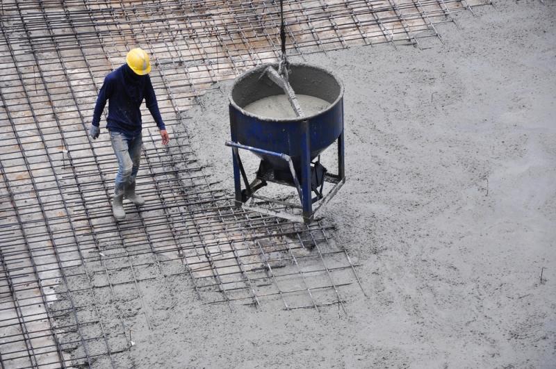 Réalisation d'une dalle béton pour construction