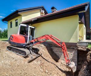 Location d'une mini-pelle pour des travaux d'excavation