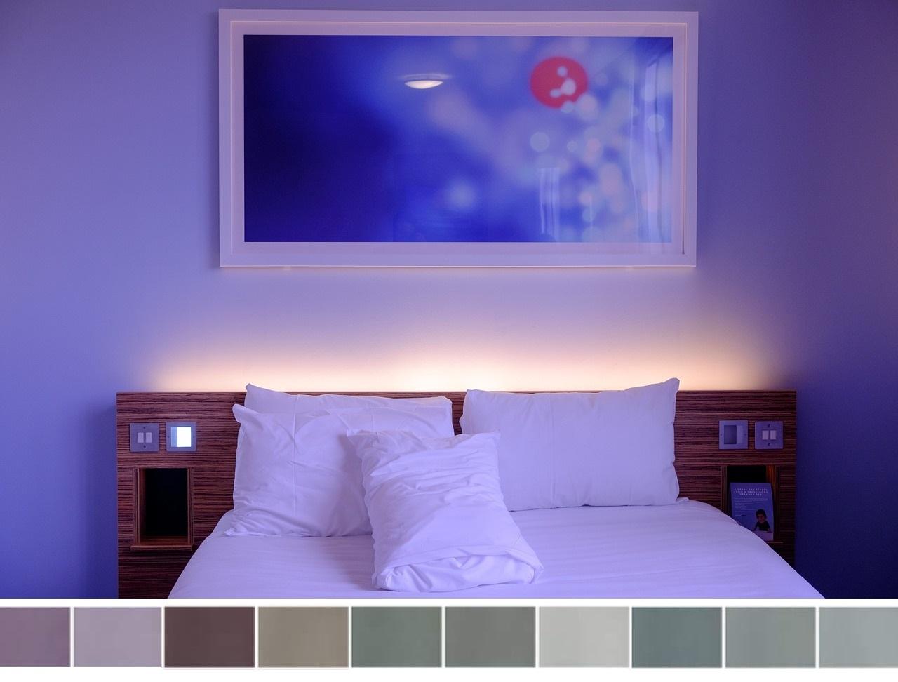 Palette De Couleurs Pour Une Chambre Violette