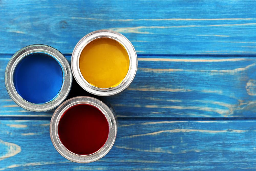 Pots de peinture à l'huile