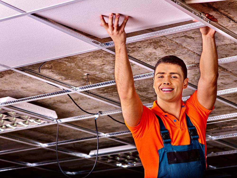 Rénovation plafond suspendu