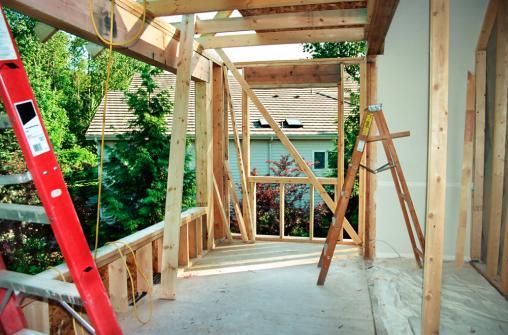 Construction d'une extension maison en bois