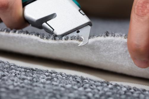Detail fixation d'une moquette