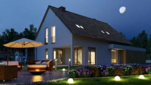 Eclairage exterieur maison