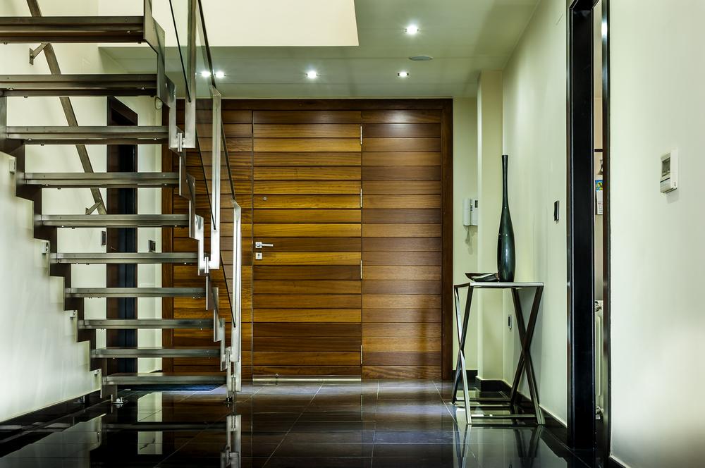 Escalier alu design minimaliste