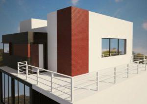 Garde-corps exterieur en fer - maison moderne