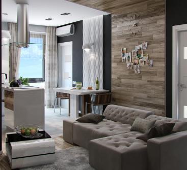 Lambris bois salon