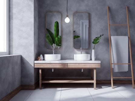 Meubles de salle de bain zen - porte serviette echelle