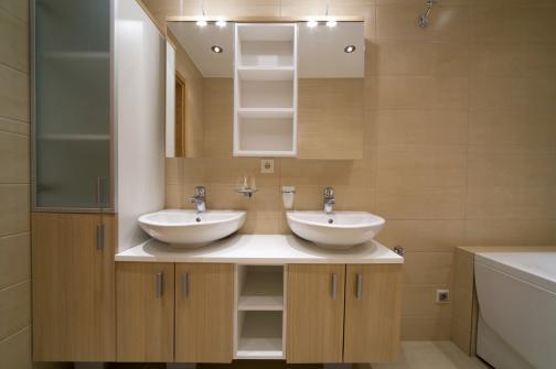 Meubles salle de bain en melamine
