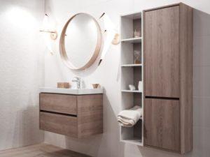 Meubles sous vasque et colonne salle de bain melamine