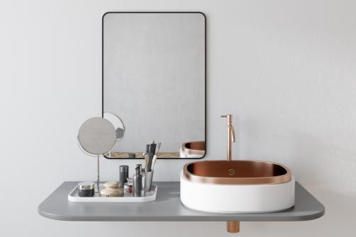 Miroir et fournitures salle de bain design