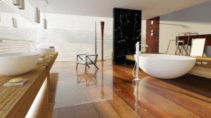 Parquet vitrifie salle de bain