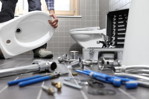 Pose equipement sanitaire wc