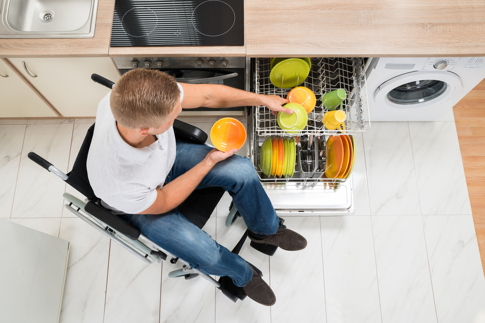 Rangement vaisselle cuisine PMR