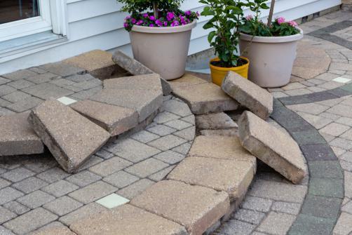 Remplacement de paves en pierre