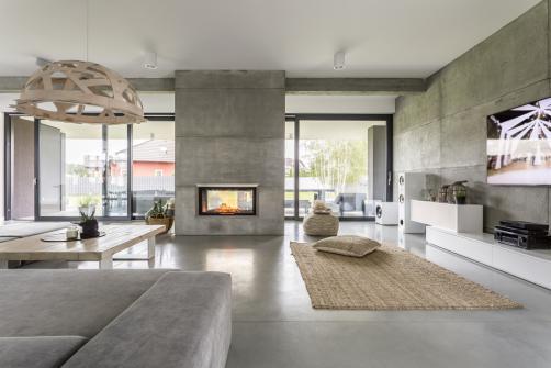 Sol interieur beton