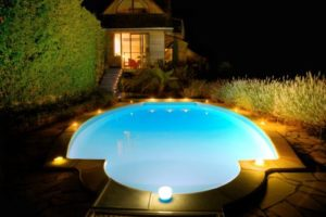 Spot encastre escalier et eclairage piscine