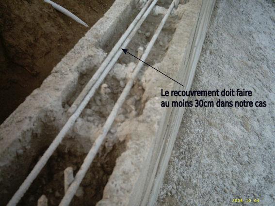 ferraillage horizontal des bloc à bancher