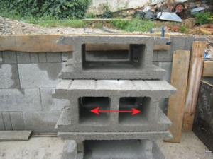 espacement de 17cm des blocs à bancher