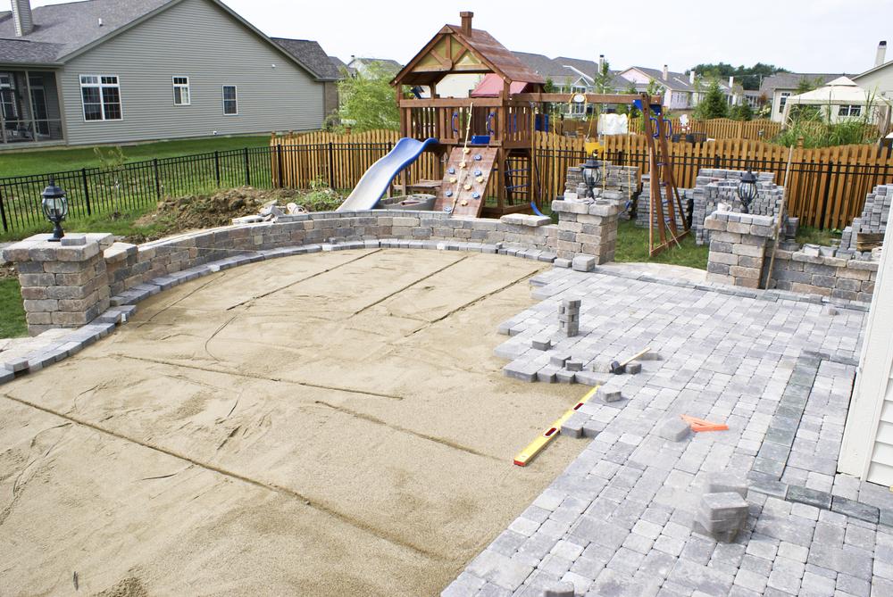 Création d'une terrasse en béton
