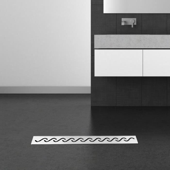 60cm Drain douche carrelage au sol cuisine de salle de bains en acier inoxydable-MEY