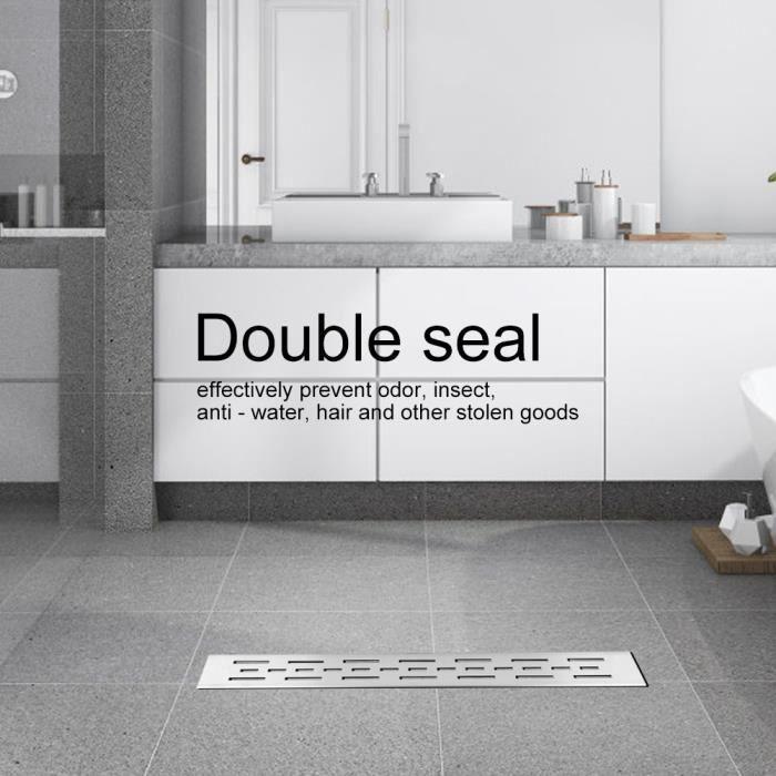 60cm Drain douche carrelage au sol cuisine salle de bains en acier inoxydable (drainage latéral)