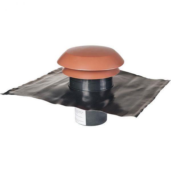 Chapeau de toiture plastique finition tuile - Ø 160 mm - CARA - Anjos