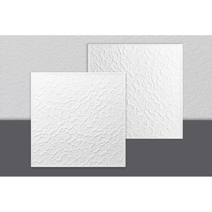 Decosa Dalle de plafond Genova, polystyrène blanc, 50 x 50 cm - LOT de 2 sachets (= 4m2)