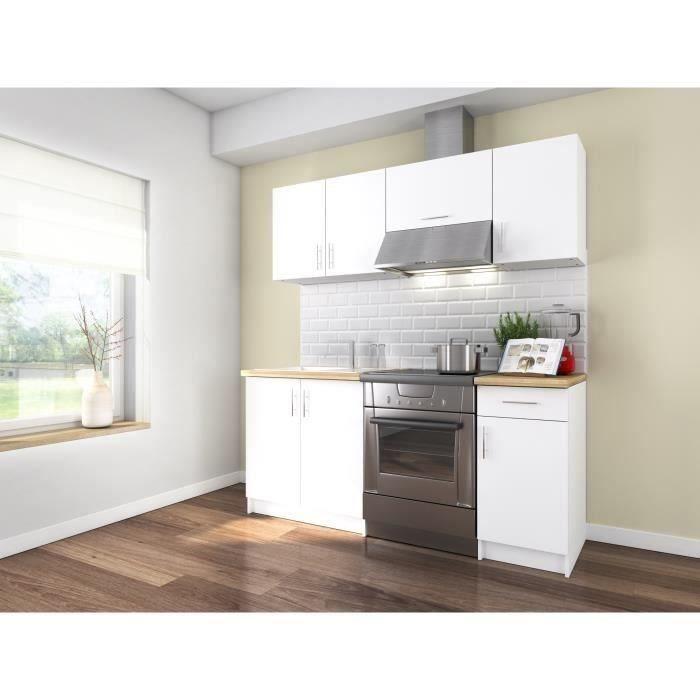 OBI Cuisine complète L 180 cm - Blanc mat