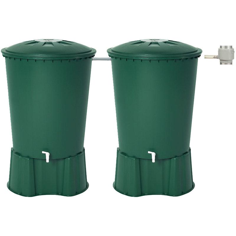 Récupérateur d'eau de pluie double 1020 L