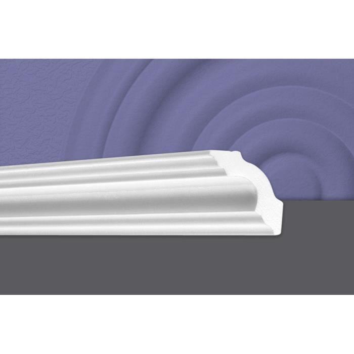 Decosa Moulure A50 (Sonja), 50 x 50 mm, polystyrène, longueur 2 m - LOT de 5 pièces