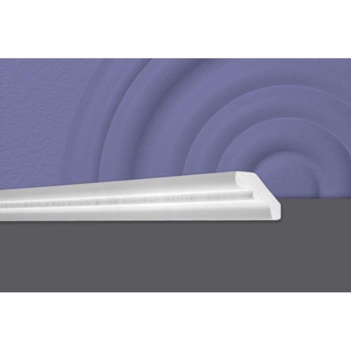 Decosa Moulure D50 (Sivana), 40 x 50 mm, polystyrène, longueur 2 m - LOT de 10 pièces